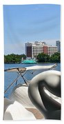 Swan Boats And Buildings Bath Towel