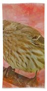 Sweet Female House Finch 3 - Digital Paint Bath Towel