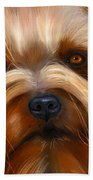 Sweet Silky Terrier Portrait Bath Towel