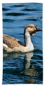 Swimming African Brown Goose Bath Towel