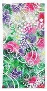 Swirl Dots By Jan Marvin Bath Towel