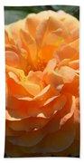 Swirling Peach Rose Bath Towel
