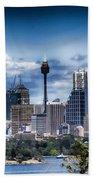 Sydney Australia Skyline Bath Towel