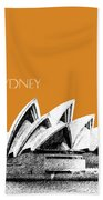 Sydney Skyline 3  Opera House - Dark Orange Bath Towel