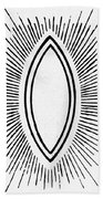Symbol Vesica Piscis Bath Towel