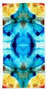 Synchronicity - Colorful Abstract Art By Sharon Cummings Bath Towel