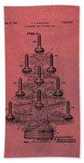 Table Christmas Tree Patent Red Bath Towel