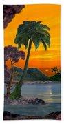 Tahitian Sunset Bath Towel