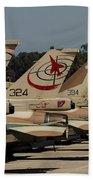 Tail Fins Of Israeli Air Force F-16`s Bath Towel