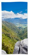 Takaka Hill Limestone Outcrops Takaka Valley In Nz Bath Towel