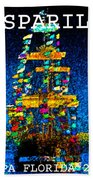 Tall Ship Jose Gasparilla Bath Towel