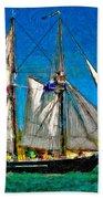 Tall Ship Paint  Bath Towel