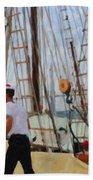 Tall Ship Sailor Duty Bath Towel