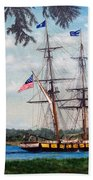 The Tall Ship Niagara Bath Towel