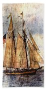 Tall Ships Art Bath Towel