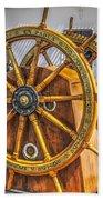 Tall Ships Wheel Bath Towel