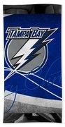 Tampa Bay Lightning Christmas Bath Towel