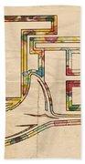 Tampa Bay Rays Poster Vintage Bath Towel