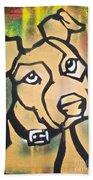 Tan Dog Hand Towel