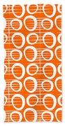 Tangerine Loop Hand Towel by Linda Woods