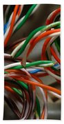 Tangle Of Colorful Wires Bath Towel