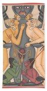 Tantra Yantra Tantric Tantrik Miniature Painting Artwork Painting Yaga Yogi India  Bath Towel
