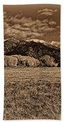 Taos Mountain In Platinum  Bath Towel