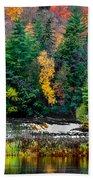 Taquamenon Lower Falls And Observation Deck. Bath Towel