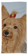 Tara The Yorkie Bath Towel