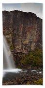 Taranaki Falls In Tongariro Np New Zealand Bath Towel