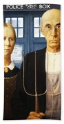 Tardis V Grant Wood Bath Towel