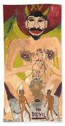 Tarot 15 The Devil Bath Towel