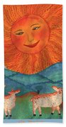 Tarot 19 The Sun Hand Towel