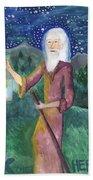 Tarot 9 The Hermit Hand Towel