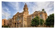 Tarrant County Courthouse II Hand Towel