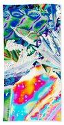 Tartaric Acid Crystals In Polarized Light Bath Towel