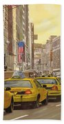taxi a New York Bath Towel