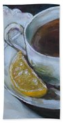 Tea And Lemon Hand Towel