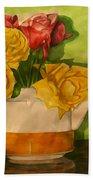 Tea Roses Bath Towel