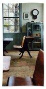 Teacher - One Room Schoolhouse With Clock Bath Towel