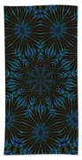 Teal And Brown Floral Abstract Bath Towel