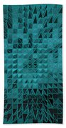 Teal Quilt Bath Towel