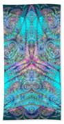 Teal Starfish Hand Towel