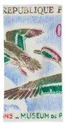 Teal Study Of Migration-museum Of Paris Bath Towel