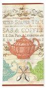 Teas And Coffees Sign Bath Towel