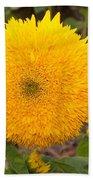 Teddy Bear Sunflower 2 Bath Towel