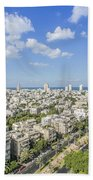 Tel Aviv Israel Elevated View Bath Towel