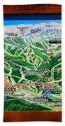 Telluride Ski Map Detail  Bath Towel