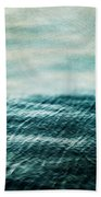 Tempest Ocean Landscape In Shades Of Teal Bath Towel