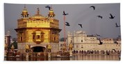 Temple At The Waterfront, Golden Bath Towel